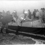 Unser ehemaliges Katamaranboot, Baujahr 1971 / © Freiwillige Feuerwehr Cuxhaven-Duhnen
