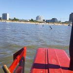 Der Trecker fährt zurück zum Strand © FF-Duhnen