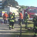 Weitere Trupps in Bereitstellung © Freiwillige Feuerwehr Cuxhaven-Duhnen