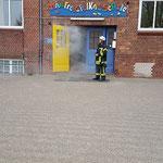 """Die Schule """"brennt"""" © Freiwillige Feuerwehr Cuxhaven-Duhnen"""