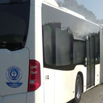 """Der """"brennende"""" Bus © Freiwillige Feuerwehr Cuxhaven-Duhnen"""