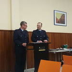 Die beiden Ortsbrandmeister begrüßen die Gäste © FF-Duhnen