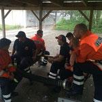 Unterbrechung wegen Regen © Freiwillige Feuerwehr Cuxhaven-Duhnen