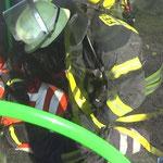 Die bewusstlosen Kameraden sind gefunden... © Freiwillige Feuerwehr Cuxhaven-Duhnen