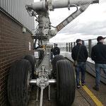 Fahrwerk einer 747 © Freiwillige Feuerwehr Cuxhaven-Duhnen