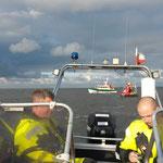 Standby bei Tonne WE20 © Freiwillige Feuerwehr Cuxhaven-Duhnen