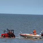 Beginn eines Wasserrettungseinsatzes / © Freiwillige Feuerwehr Cuxhaven-Duhnen