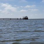 Selbst bei Niedrigwasser könnten wir hier das Boot heutzutage problemlos zu Wasser bringen um in Richtung Elbe zu fahren © FF.Cuxhaven-Duhnen