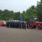Die angetretene Duhner Wehr © Freiwillige Feuerwehr Cuxhaven-Duhnen