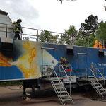 Die Photovoltaikanlage brennt © FF-Duhnen