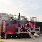 Heiße Übung im Container © Freiwillige Feuerwehr Cuxhaven-Duhnen