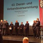 Ehrung für 25 Jahre Mitgleidschaft in der Feuerwehr © FF-Duhnen