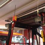 AIS - Sendeanlage (Oranger Kasten ) zur Erkennung der Fahrzeugposition / © Freiwillige Feuerwehr Cuxhaven-Duhnen