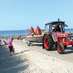 Zurück am Duhner Strand © Freiwillige Feuerwehr Cuxhaven-Duhnen