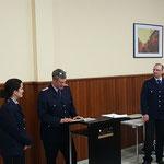 Ernennung zur Feuerwehrfrau: Andrea Pecher © FF-Duhnen