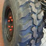 Der erste neue Reifen © FF.Cuxhaven-Duhnen