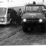 Der alte NAW und der Wattrettungsunimog der Kurverwaltung am Sahlenburger Strand © Freiwillige Feuerwehr Cuxhaven-Duhnen