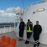 Auf dem Rückweg mit der Fähre Brunsbüttel - Cuxhaven © Freiwillige Feuerwehr Cuxhaven-Duhnen