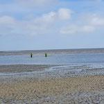 Richtung Norden wird der Duhner Priel immer tiefer © FF.Cuxhaven-Duhnen