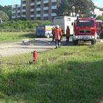 Die Wasserversorgung ist aufgebaut © Freiwillige Feuerwehr Cuxhaven-Duhnen