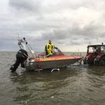 "Rettungsboot ""Franz Mützelfeldt"" klar zum Absetzen © FF.Cuxhaven-Duhnen"