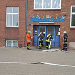 Angriffstrupp an der Rauchgrenze mit Atemschutzüberwachung © Freiwillige Feuerwehr Cuxhaven-Duhnen