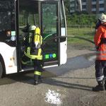 Vorrücken zur Brandbekämpfung © Freiwillige Feuerwehr Cuxhaven-Duhnen