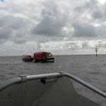 Der Wattretter vor Bake 5 © Freiwillige Feuerwehr Cuxhaven-Duhnen
