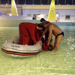 """Rettungsübung """"Verletzter Kite-Surfer"""" © FF.Cuxhaven-Duhnen"""