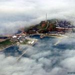 Helgoland von Seenebel umgeben