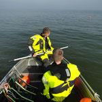 """Der """"Schwimmer"""" ist gesichtet ... / © Freiwillige Feuerwehr Cuxhaven-Duhnen"""