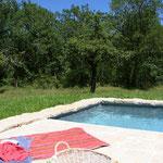 piscine privée dans parc privé occitanie gite à louer