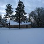 l'auberge du mas d'aspech dans la neige - vite un bon feu et une soupe chaude