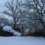 campagne lotoise sous la neige