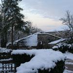le mas d'aspech sous la neige