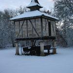 le pigeonnier sous la neige