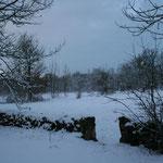 la campagne glacée dans le Lot, les causses eneigés