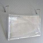 1110 - Drahtbügeltasche DIN Lang mit Klappe, kurze Bügel nach hinten