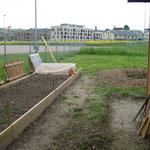 Der neu angelegte Garten
