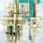 """Tunis"", Acryl auf Papier/Pappe, 70 x 100 cm"