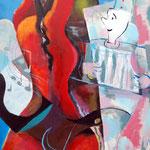 """bezaubert"", Acryl auf Holz, 60 x 80 cm"