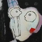 """""""Verführung"""", Acryl auf Pappe, 40 x 50 cm"""