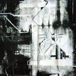"""flimmern"", Acryl auf Papier/Pappe, 70 x 100 cm"