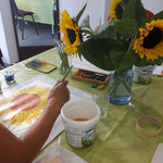 Sonnenblume in Aquarell
