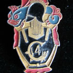 insigne 4 regiment de genie .alu dos grenelé A Augis Lyon 28 St Barthélemy prix : 60 euros