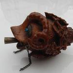 tabatière corozo sculptée