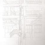 2013, Fredenhagen X, Bleistift auf Papier, 70 x 100 cm