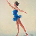2008, Baletnica,  olej na płótnie, 30 x 40 cm.