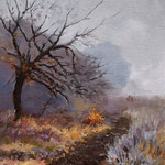 2013, Listopad, Olej na desce, 20,5 x 25,5 cm.