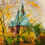 2012, Kaplica Magdaleny, olej na płótnie lnianym, 30 x 40 cm.
